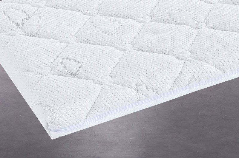 Sleep safety mattress cover with 3D bubble pad.