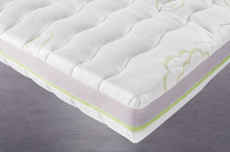 Mattress cover made of natural fiber TENCEL and side venting band.