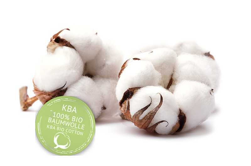 Cotton from certified organic farming.