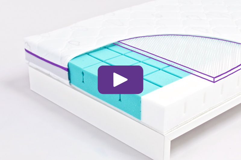 3D bubble pad for unparalleled air permeability in the baby mattress.