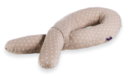 T040331 - Poduszka cuddly nest cappuccino dotted