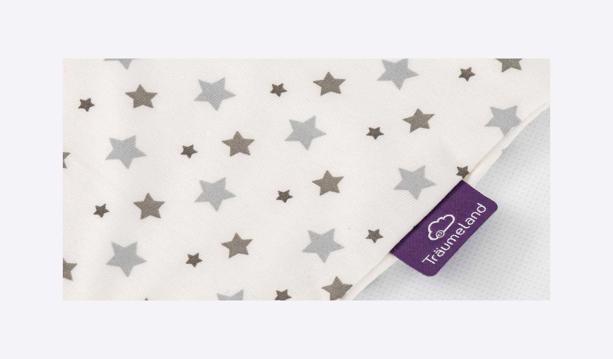 S0300307 - summer sleeping bag white with grey stars