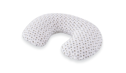 T042001 - nursing pillow white with grey stars