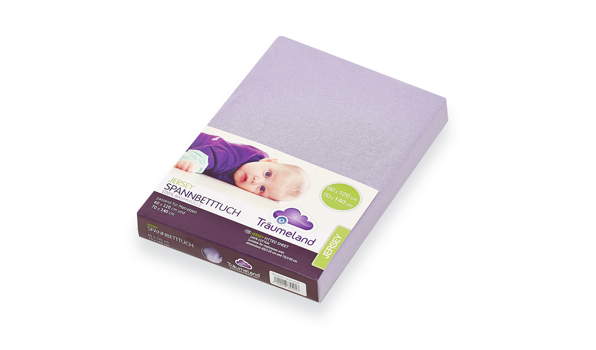 TT02073 - fitted sheets jersey lilac