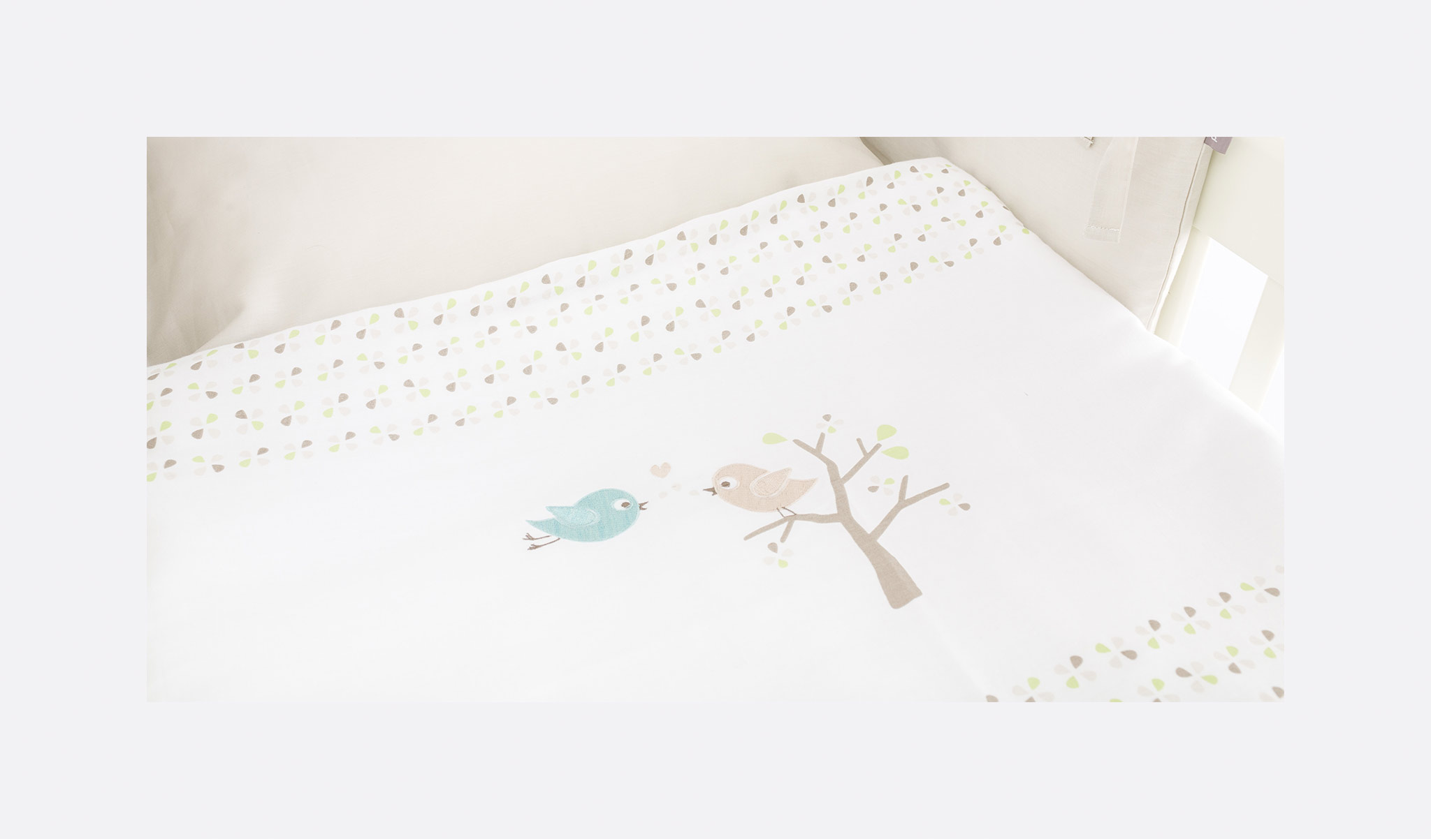 TT16503 - bedcover bird luck green