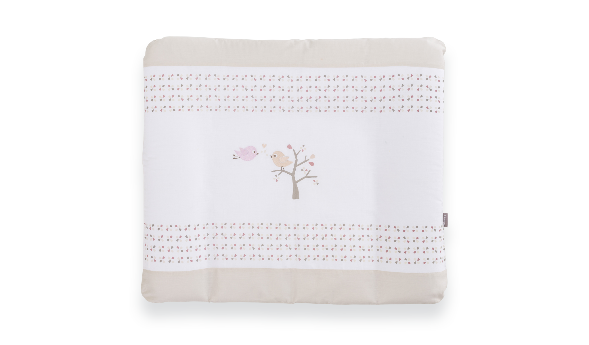 TT16617 - Changing mat Bird luck rose with cotton cover