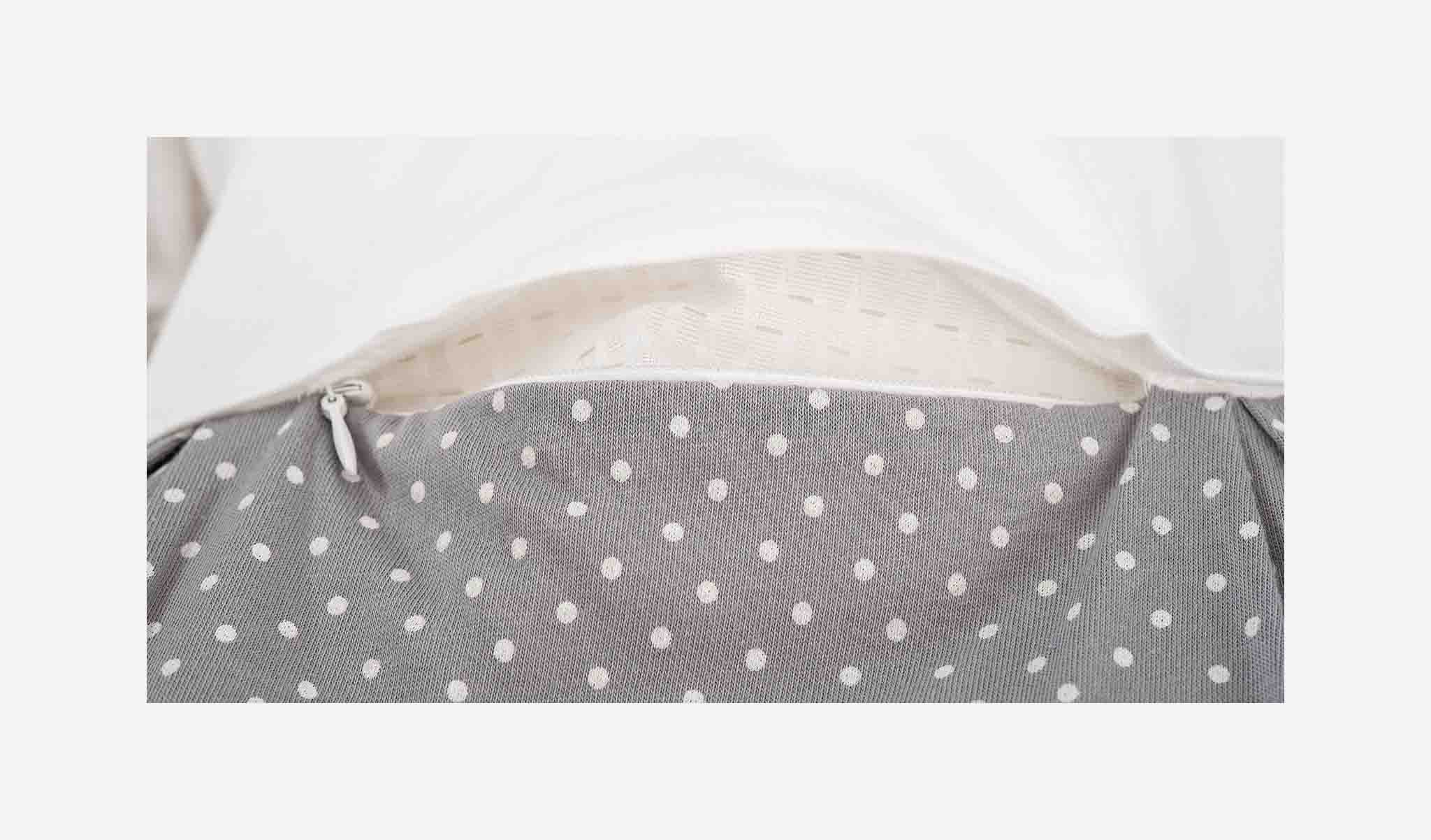 S0100153 - Little dots sleeping bag set in grey