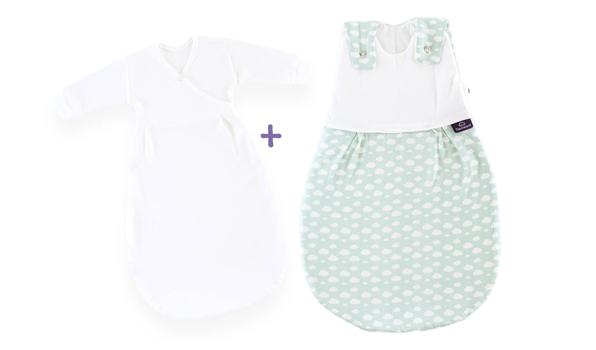 S0100651 - Cloud sleeping bag set in mint