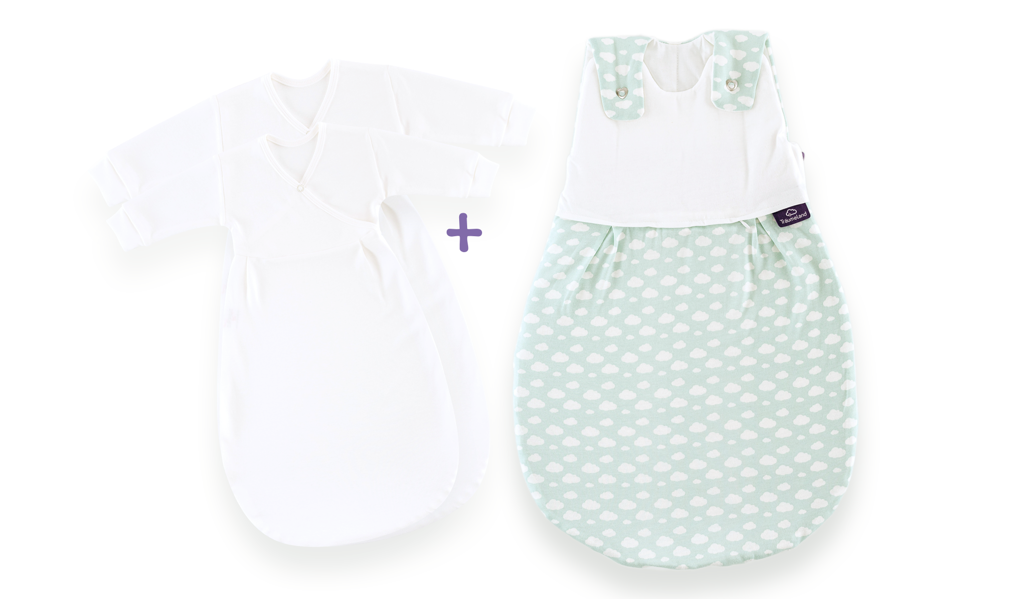 S0100653 - Cloud sleeping bag set in mint