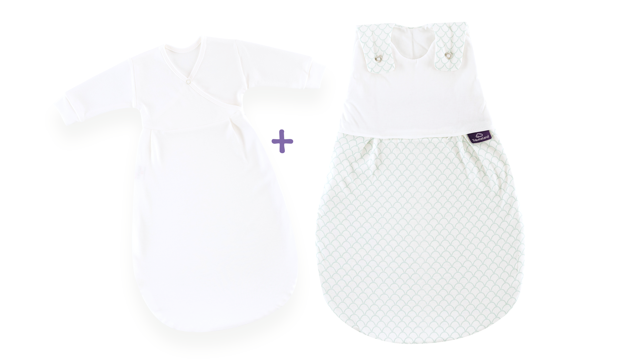 S0100751 - Scales sleeping bag set in white